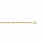 "22"" 56cm 2mm 9ct gold round link Belcher chain 3.4g"